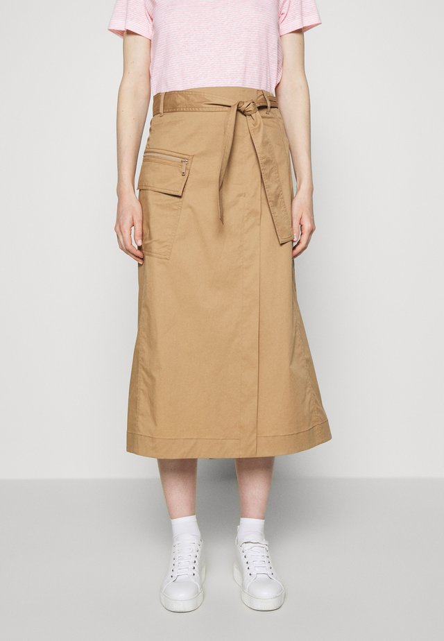 SKIRT UTILITY DETAILS CARGO POCKET - Gonna a campana - mellow almond