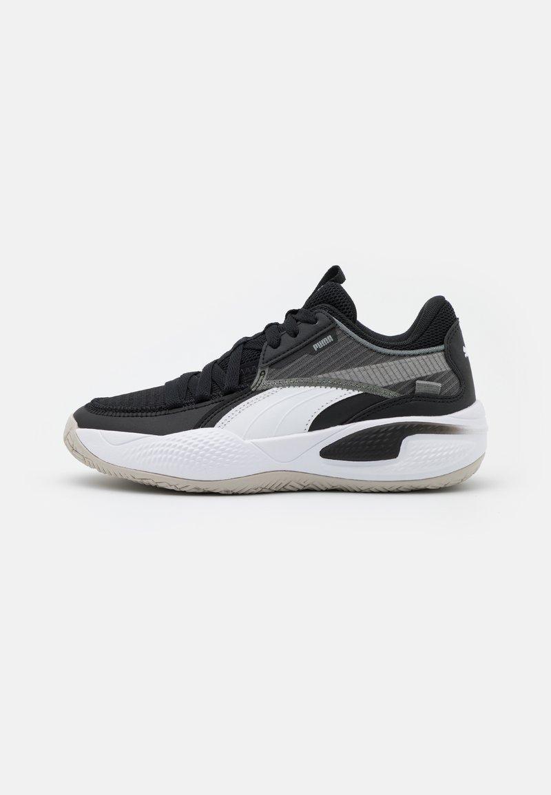 Puma - COURT RIDER JR UNISEX - Basketbalové boty - white/black