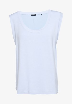 ROUND NECK ROUND HEM - Basic T-shirt - light blue