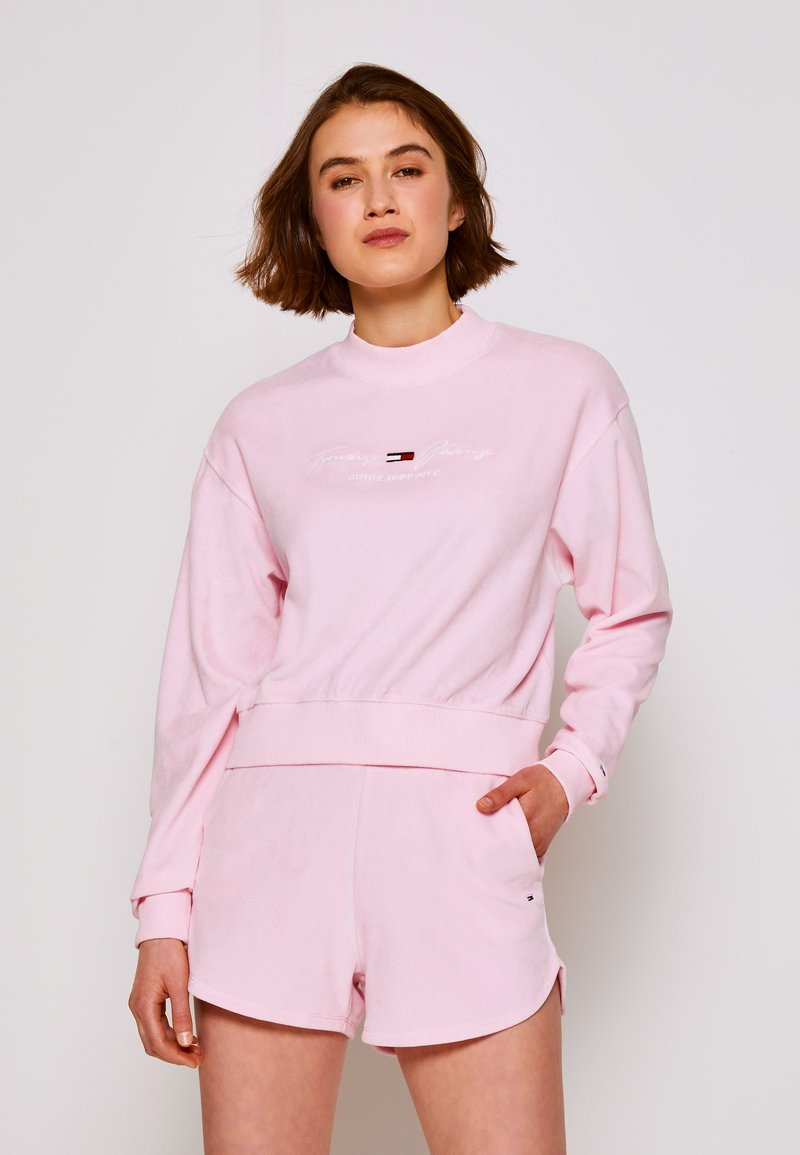Tommy Jeans - PASTEL CREW - Mikina - romantic pink