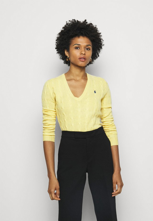 Strickpullover - fall yellow