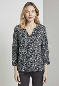 TOM TAILOR - Blouse - black and white - 0