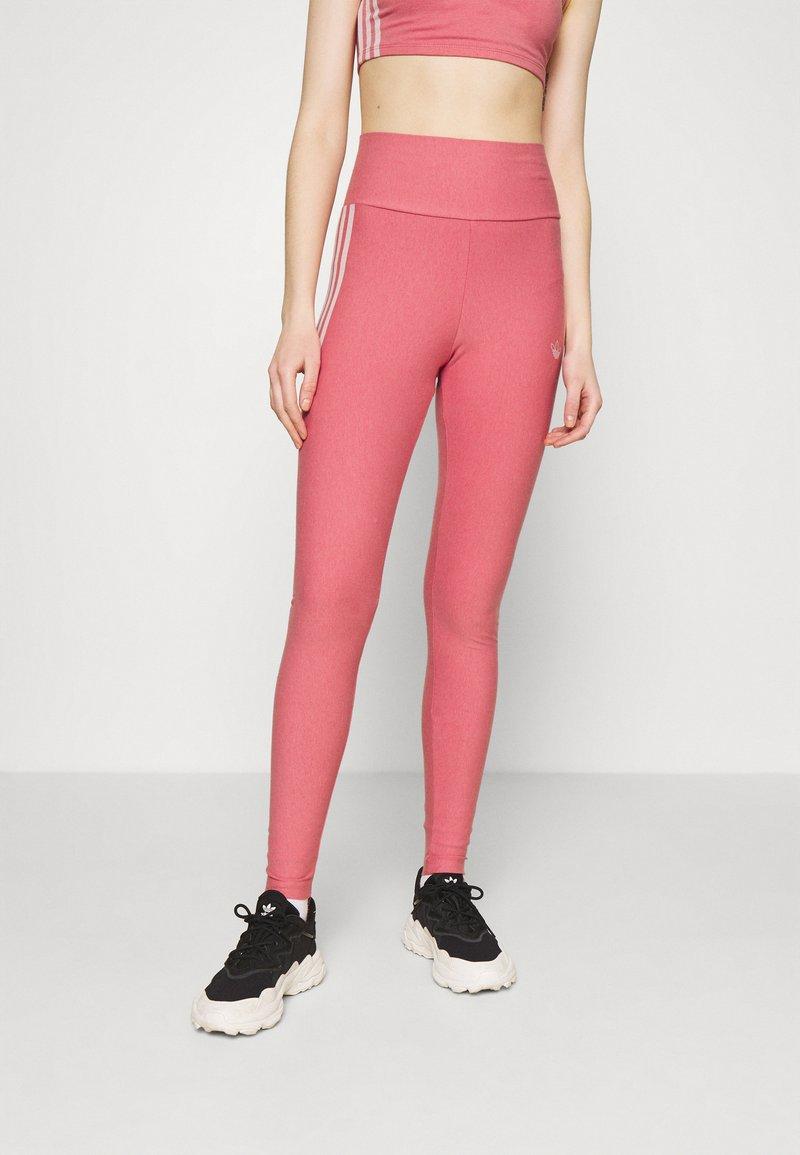 adidas Originals - TIGHTS - Leggings - Trousers - hazy rose/white