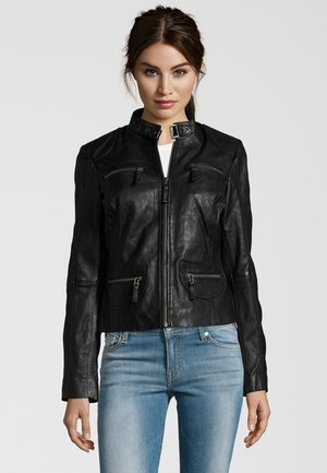 KATERINA - Leather jacket - black