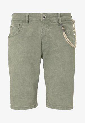 Denim shorts - dusty leave green