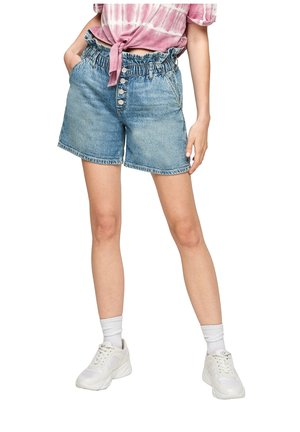 REGULAR FIT - Denim shorts - blue