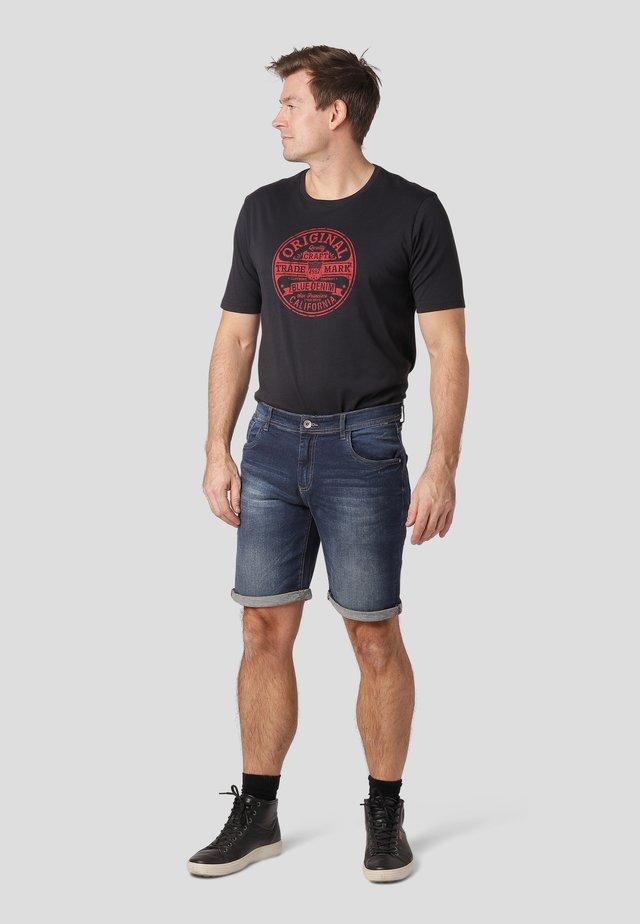 Denim shorts - dk blue wash