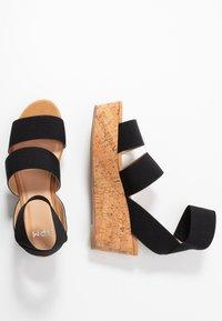 Steven New York - KEASHA - Sandály na platformě - black - 3