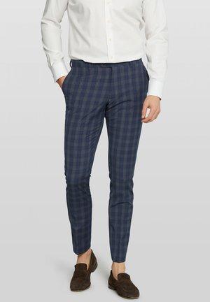 BULL W/O SPLIT - Suit trousers - blue