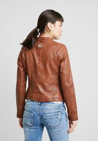 Freaky Nation - TULA - Leather jacket - cognac - 2