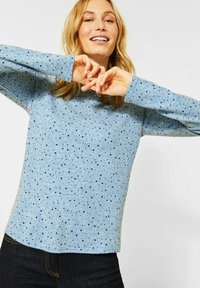 Cecil - MIT PUNKTEN - Long sleeved top - blau - 0