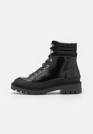COMBAT MID LACEUP HIKING BOOT - Lace-up ankle boots - black