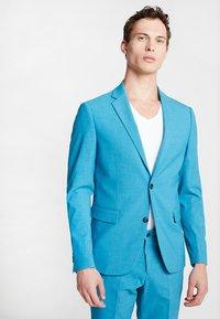 Lindbergh - PLAIN MENS SUIT - Oblek - turquoise melange - 2
