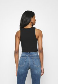 Weekday - STELLA CROP 2 PACK - Top - black/white - 2