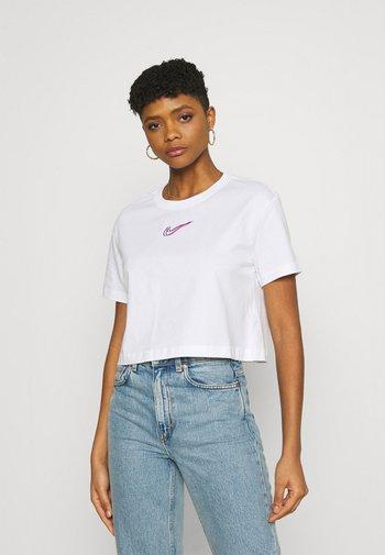 CROP TEE - Camiseta estampada - white