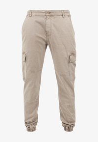 Urban Classics - WASHED CARGO  - Cargo trousers - sand - 0