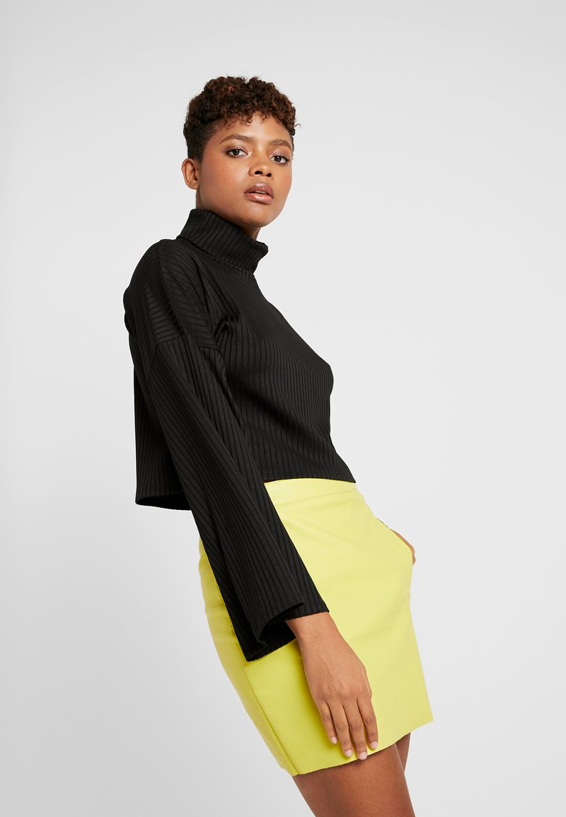 Gina Tricot - ARIA TURTLENECK - Long sleeved top - black