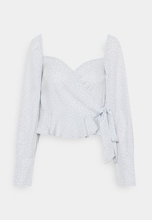 WRAPPED AROUND LOVE BLOUSE - Blus - light blue