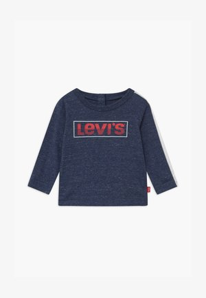 LOGO TAPED LONG SLEEVE - Long sleeved top - dark blue/red