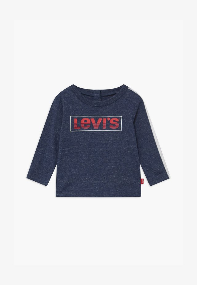 LOGO TAPED LONG SLEEVE - T-shirt à manches longues - dark blue/red