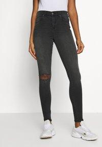 Dr.Denim - LEXY - Jeans Skinny Fit - off black destroy - 0