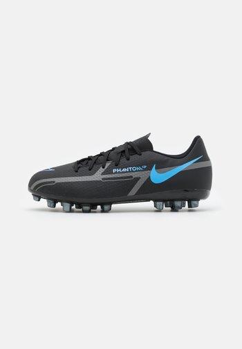 JR PHANTOM GT2 ACADEMY AG UNISEX - Moulded stud football boots - black/iron grey