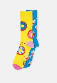 Happy Socks - POPCORN JUMBO DONUT SOCK UNISEX SET - Socks - multi-coloured - 0