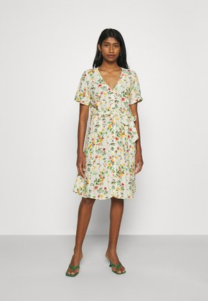 OBJLORENA SHORT DRESS - Day dress - sandshell/alba