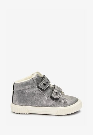 TOUCH FASTENING - Ankle boots - silver
