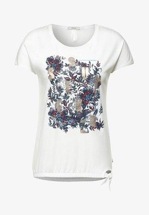 MIT SCHLEIFEN DETAIL - T-shirt print - weiß