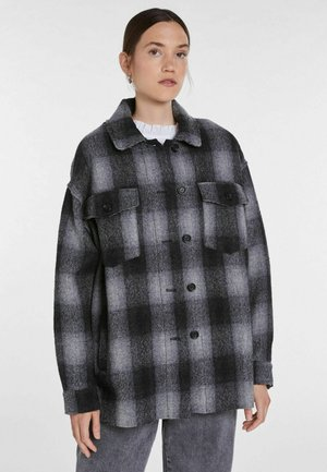 Button-down blouse - grey/black