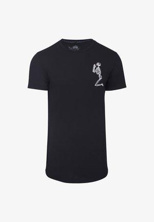 PRAYING SKELETON - Print T-shirt - black