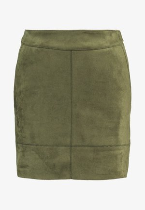 ONLJULIE BONDED SKIRT - Mini skirt - grape leaf
