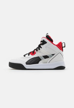 BACKCOURT MID UNISEX - Baskets montantes - white/black/high risk red/silver