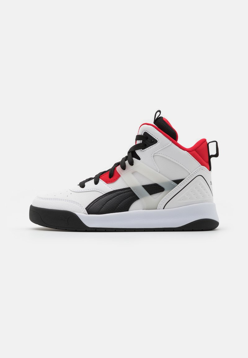Puma - BACKCOURT MID UNISEX - Vysoké tenisky - white/black/high risk red/silver