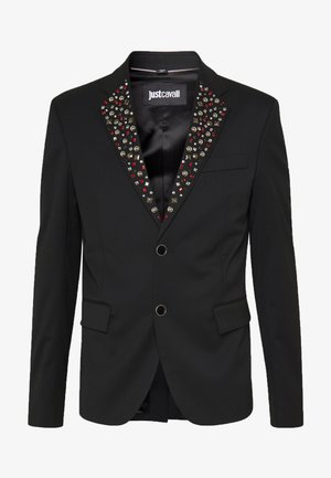 EMBELLISHED JACKET - Suit jacket - black