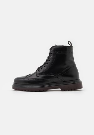 BEAUMONT - Schnürstiefelette - black