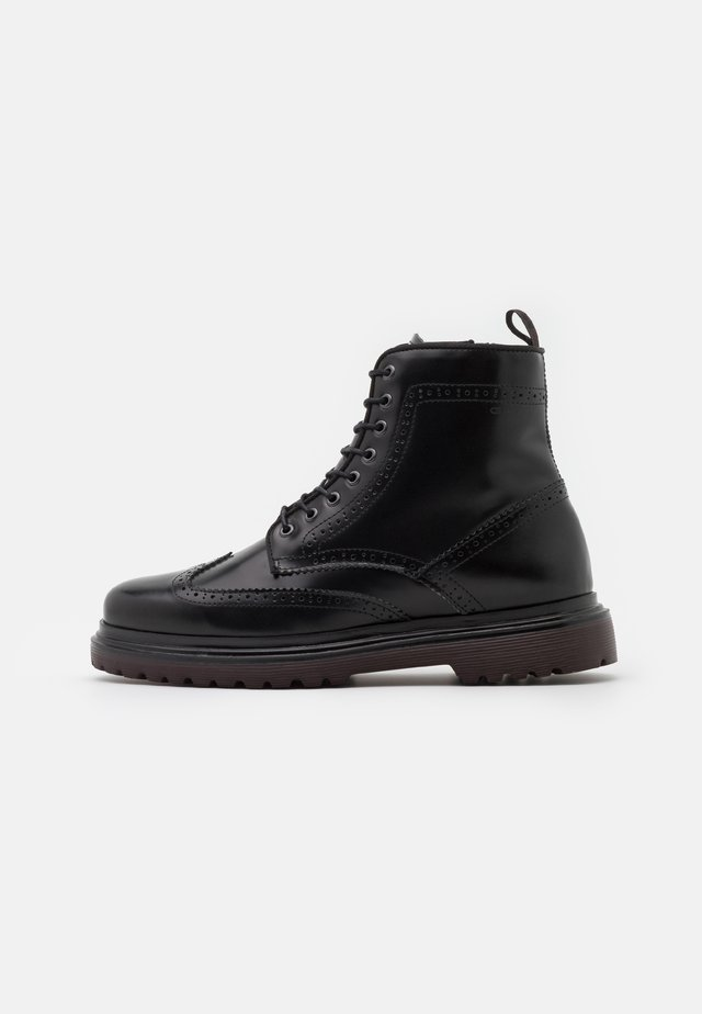 BEAUMONT - Botines con cordones - black