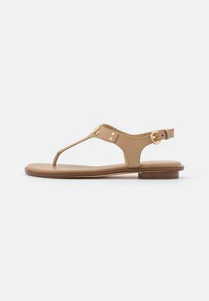 PLATE THONG - T-bar sandals - camel