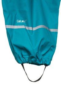 CeLaVi - RAINWEAR SUIT BASIC SET WITH FLEECE LINING - Rain trousers - turquoise - 4