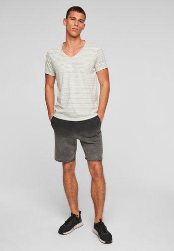 Print T-shirt - grey melange