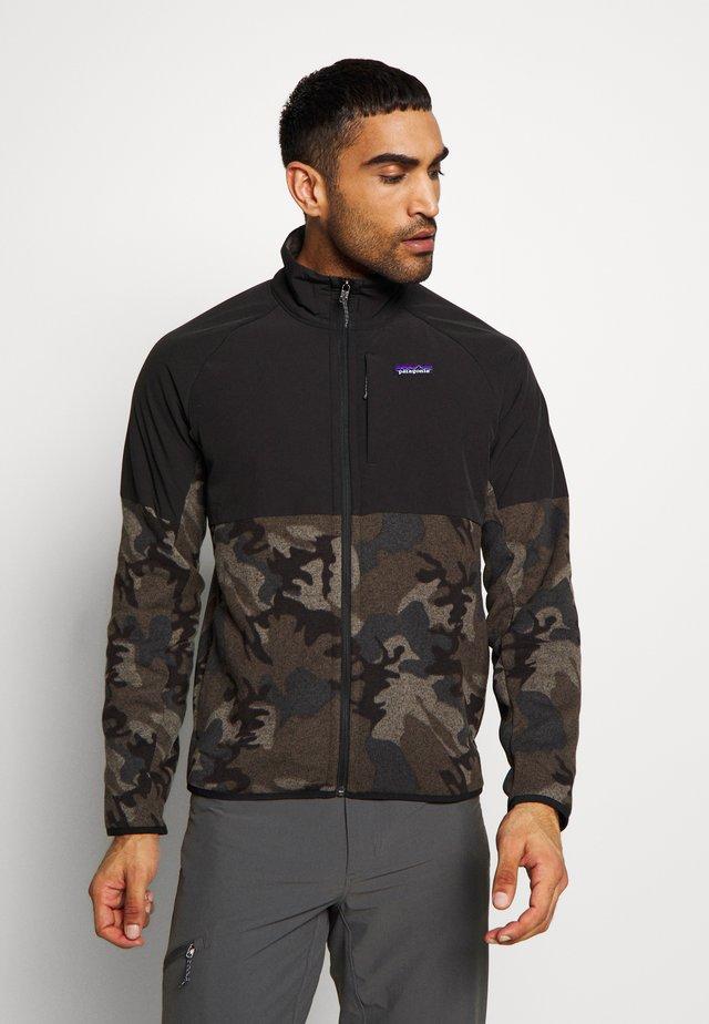 BETTER SWEATER SHELLED - Fleece jacket - river delta/forge grey