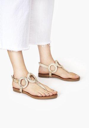 T-bar sandals - gold gld