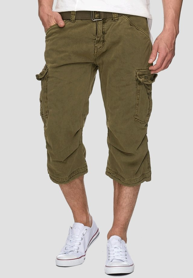 MIT GÜRTEL NICOLAS - Shorts - dark green