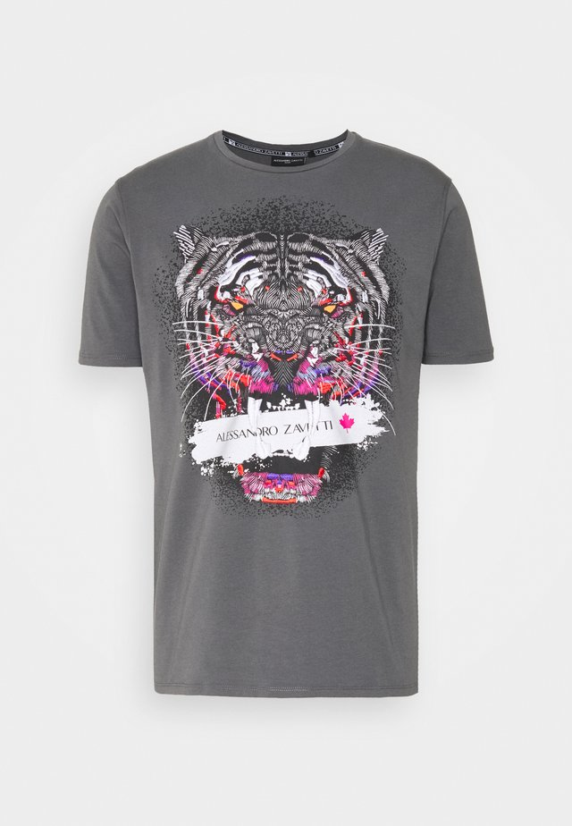 SAVAGE TEE - T-shirt print - grey