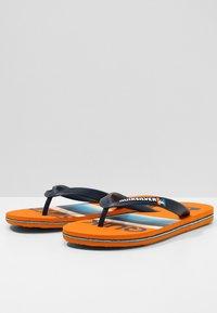 Quiksilver - MOLOKAI SLAB  - Pool shoes - blue/blue/orange - 3