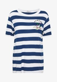 Scotch & Soda - REGULAR FIT STRIPED TEE WITH CHEST ARTWORK - Triko s potiskem - combo - 4