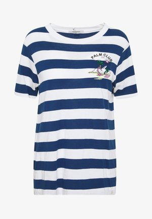 REGULAR FIT STRIPED TEE WITH CHEST ARTWORK - Triko s potiskem - combo