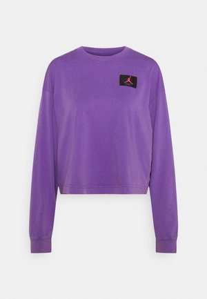 ESSENTIAL BOXY TEE - Long sleeved top - wild violet