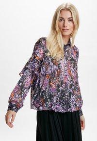InWear - HILMA - Button-down blouse - purple flowers - 0
